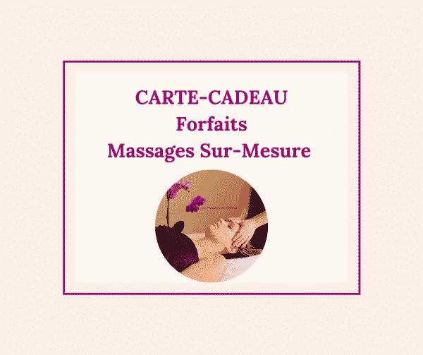 Carte-cadeau forfaits massage au Touquet